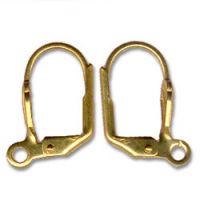 Dormeuses... boucles d'oreilles dorees 16 x 8 x 2 ( 1 paire )