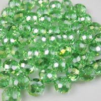 Perles cristal 6x8mm,green X 30