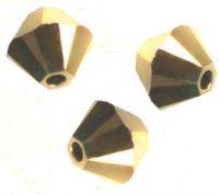 Perles toupies Swarovski 4mm 5328 CRYSTAL AURUM 2X X 20 perles
