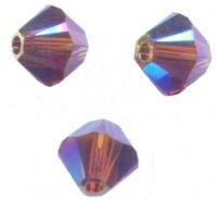 Perles toupies Swarovski  4mm 5328 AMETHYST AB2X X 50 perles