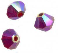 Perles toupies Swarovski 4mm  5328  SIAM AB2X X 50 perles