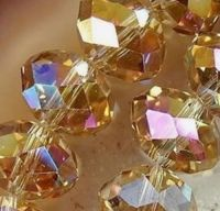Perles  de cristal jonquil AB 4x6mm X 96