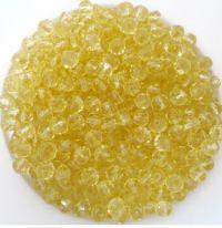Perles crystal 3 X 4 mm jaunatre X 50