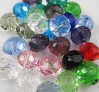 Perles crystal 3 X 4 mm mixte X 50
