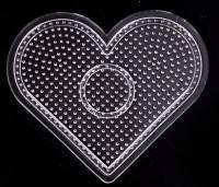 Plaque coeur pour perles Hama 2.6 mm 8 x 9 cm