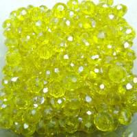 Perles  de cristal jonquil 3 x 4mm X 100