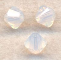 Toupies boheme 3 mm White opal