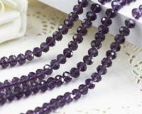 Perles crystal 3 x 4 mm X 100
