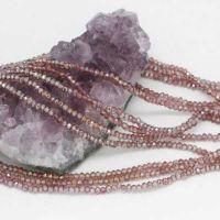 Perles crystal 3 x 4 mm Wine red AB X 100
