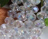 Perles de cristal , crystal blanc  3 x 4mm, X 150