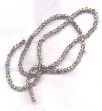 Perles de cristal grey argent 3 x 4mm X 100