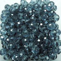 Rondelles briolettes 4 mm blue zircon x 100