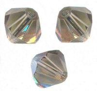 Toupies en crystal 4 mm Black diamond AB X 100