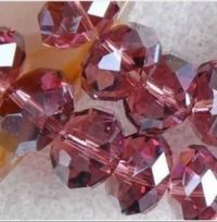 Perles  Cristal Bordeau  6x8mm, X 70
