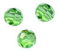 Perles cristal swarovski Rondes 5000 4 mm Peridot Qte : 20