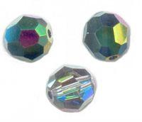 Perles cristal swarovski Rondes 5000 6 mm  CRYSTAL VITRAIL MEDIUM Qte : 6