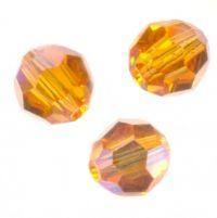 Perles cristal swarovski Rondes 5000 6 mm  TOPAZ AB Qte : 6