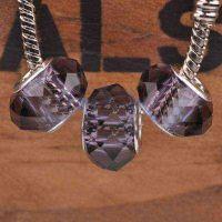 Perles Lampwork , perles de Murano et argent    15 x 9 et trou 4.5....verte et fleur X 10