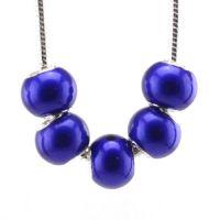 Perles Lampwork , perles de Murano et argent 925 14 x 4 et trou 4.5. X 5