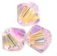 Perles toupies Swarovski 4mm  5301 ROSALINE AB2X X 50 perles