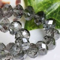 Perles cristal black diamond 6x4mm