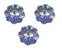 Perles fleur Swarovski  light sapphire AB 6 mm (3700) X 10