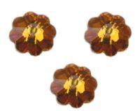 Perles fleur Swarovski topaz AB  6 mm ( 3700 ) X 10
