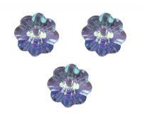 Perles fleur Swarovski  light sapphire 6 mm ( 3700 ) X 10