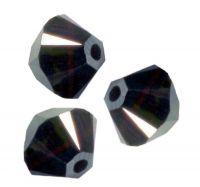 TOUPIES SWAROVSKI® ELEMENTS  4mm   JET HEMATITE AB X 50 perles