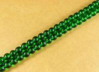 Perles 4 mm rondes en verre tchèque  Green Diametre du trou 1 mm X 200