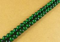 Perles 4 mm rondes en verre tchèque  Dark green Diametre du trou 1 mm X 200