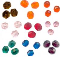 225 facettes de boheme 6 mm lot 4 9 x 25 perles  smoked topaz, sun , hyacinth , light rose light siam , rosaline , emerald , capri blue amethyst Taille du trou 1 mm