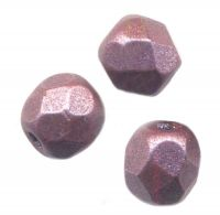 PERLES FACETTES DE BOHEME 4mm  Metallic Dark plum X 100