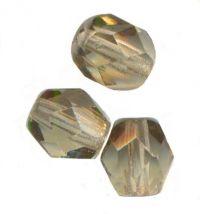 PERLES FACETTES DE BOHEME  4mm BLACK DIAMOND x 100