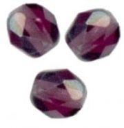 PERLES FACETTES DE BOHEME  6mm  25 perles  AMETHYST