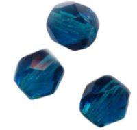 PERLES FACETTES DE BOHEME  6mm 25 perles AQUAGREEN