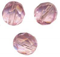 PERLES FACETTES DE BOHEME  6mm 25 perles ROSE
