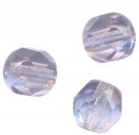 PERLES FACETTES DE BOHEME 6mm 25 perles TANZANITE