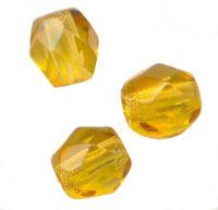 PERLES FACETTES DE BOHEME  6mm 25 perles TOPAZ