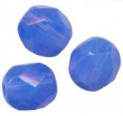 PERLES FACETTES DE BOHEME  8mm 20 perles MARBRE SAPPHIRE