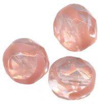 PERLES FACETTES DE BOHEME  8mm 20 perles ROSE FLORE