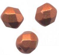 PERLES FACETTES DE BOHEME  6mm BRONZE RED MAT X 25