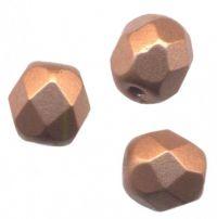 PERLES FACETTES DE BOHEME  6 mm  COPPER GOLD MAT X 25