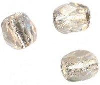 PERLES FACETTES DE BOHEME  6mm AB 25 perles CRYSTAL SILVER LINED