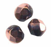 PERLES FACETTES DE BOHEME  6mm AB 25 perles JET CAPRI GOLD