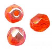 PERLES FACETTES DE BOHEME  6mm AB 25 perles HYACINTH AB