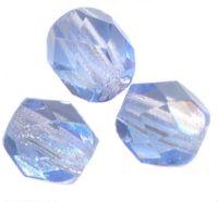 PERLES FACETTES DE BOHEME  6mm AB 25 perles LIGHT SAPPHIRE AB