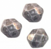 PERLES FACETTES DE BOHEME  6mm AB 25 perles NEBULEUSE NOIRE  ( opaque )