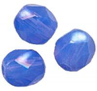 PERLES FACETTES DE BOHEME  6mm AB 25 perles MARBRE SAPPHIRE AB