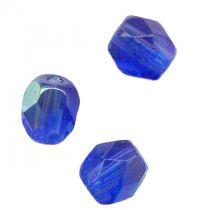 PERLES FACETTES DE BOHEME  6mm AB 25 perles SAPPHIRE AB